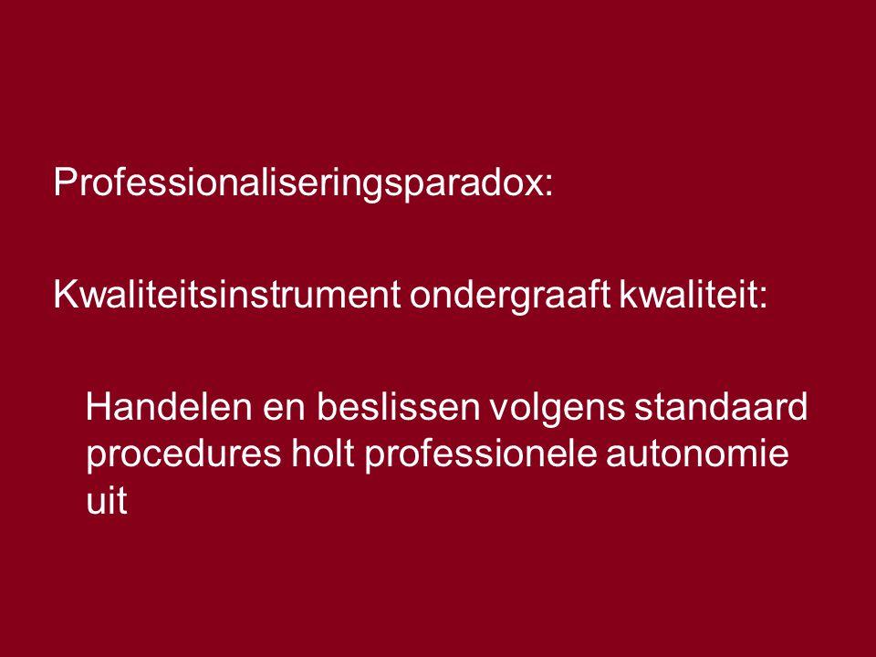 Professionaliseringsparadox:
