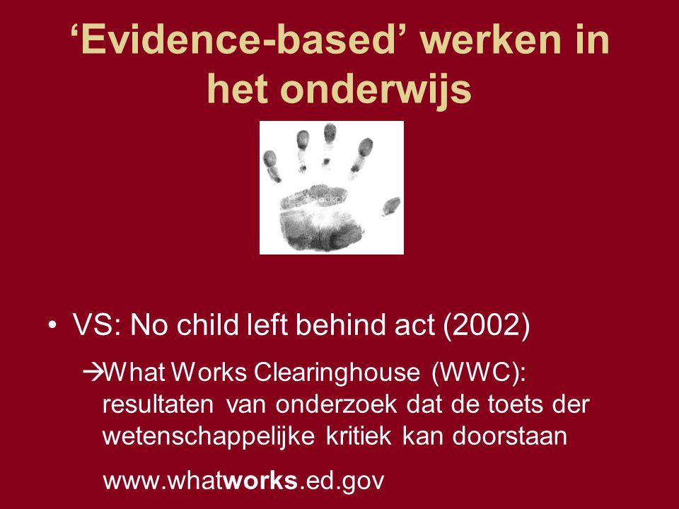 'Evidence-based' werken in het onderwijs
