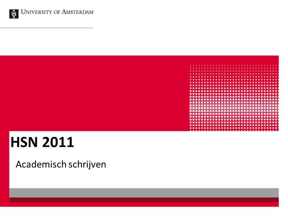 HSN 2011 Academisch schrijven