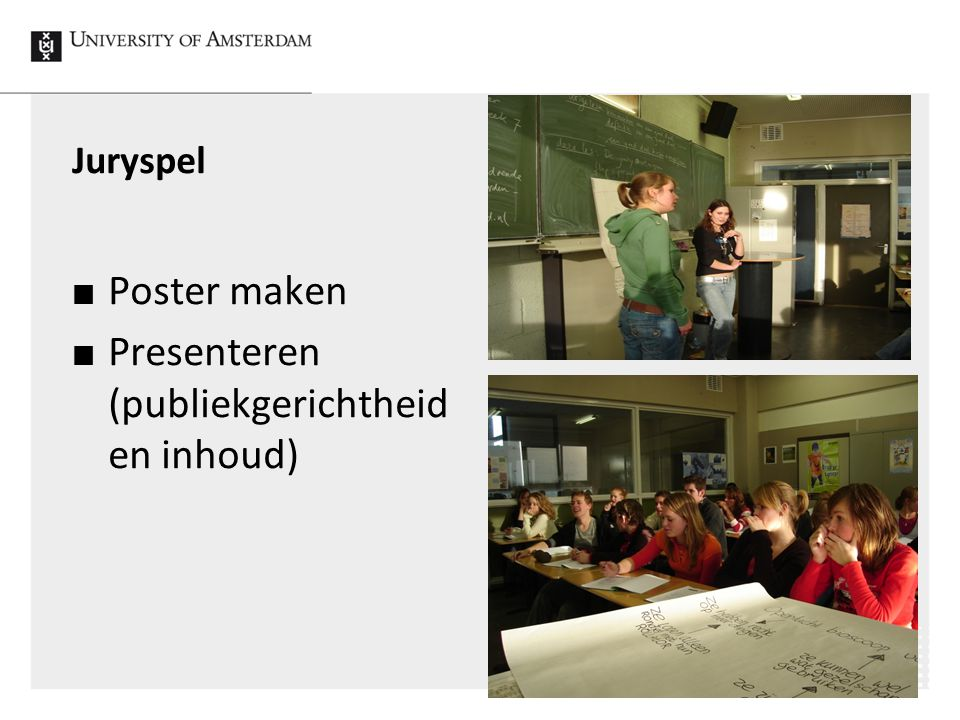 Presenteren (publiekgerichtheid en inhoud)