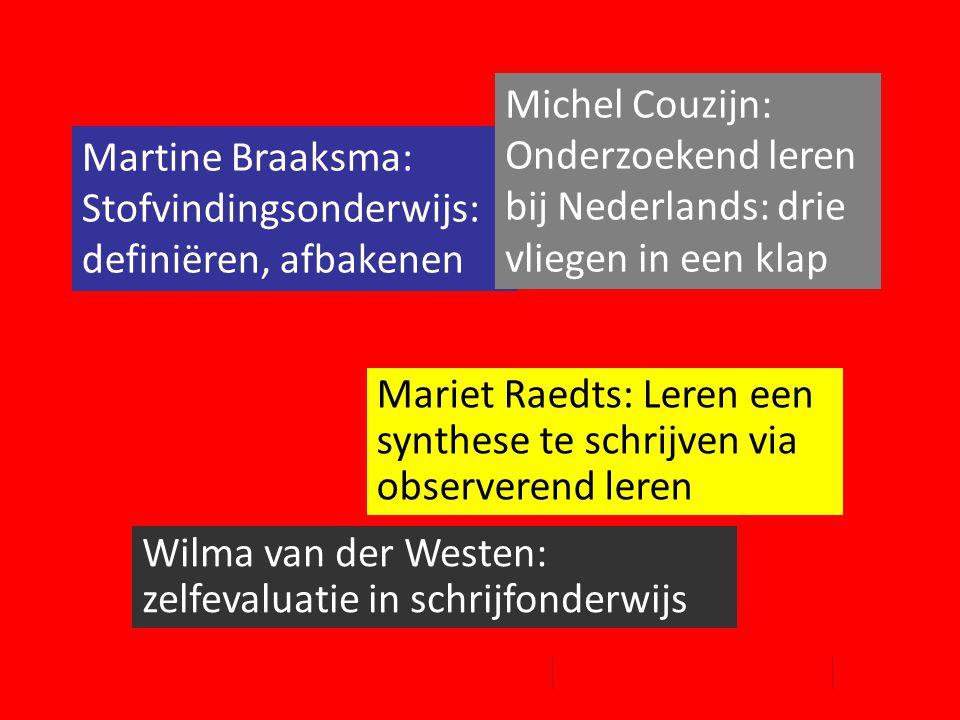 Michel Couzijn: Onderzoekend leren bij Nederlands: drie vliegen in een klap