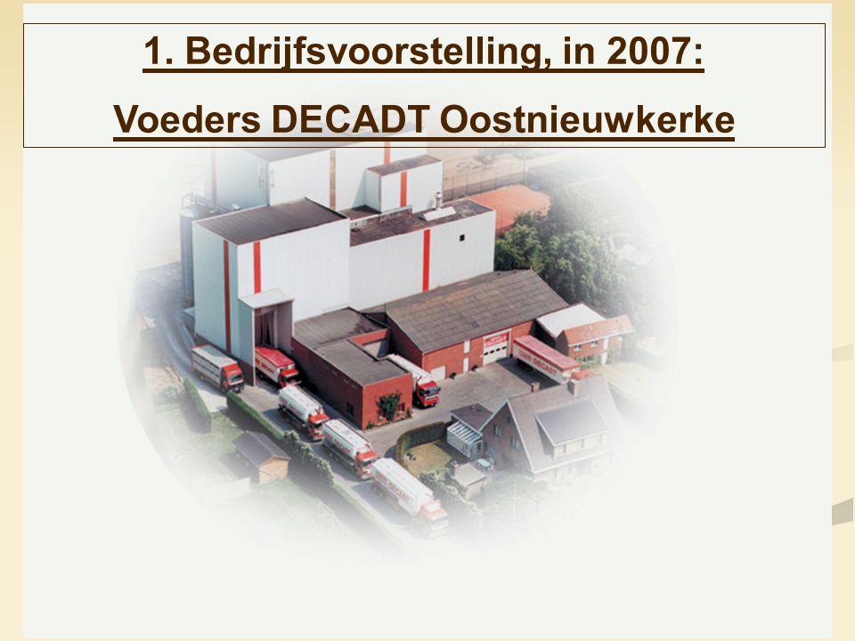 1. Bedrijfsvoorstelling, in 2007: Voeders DECADT Oostnieuwkerke