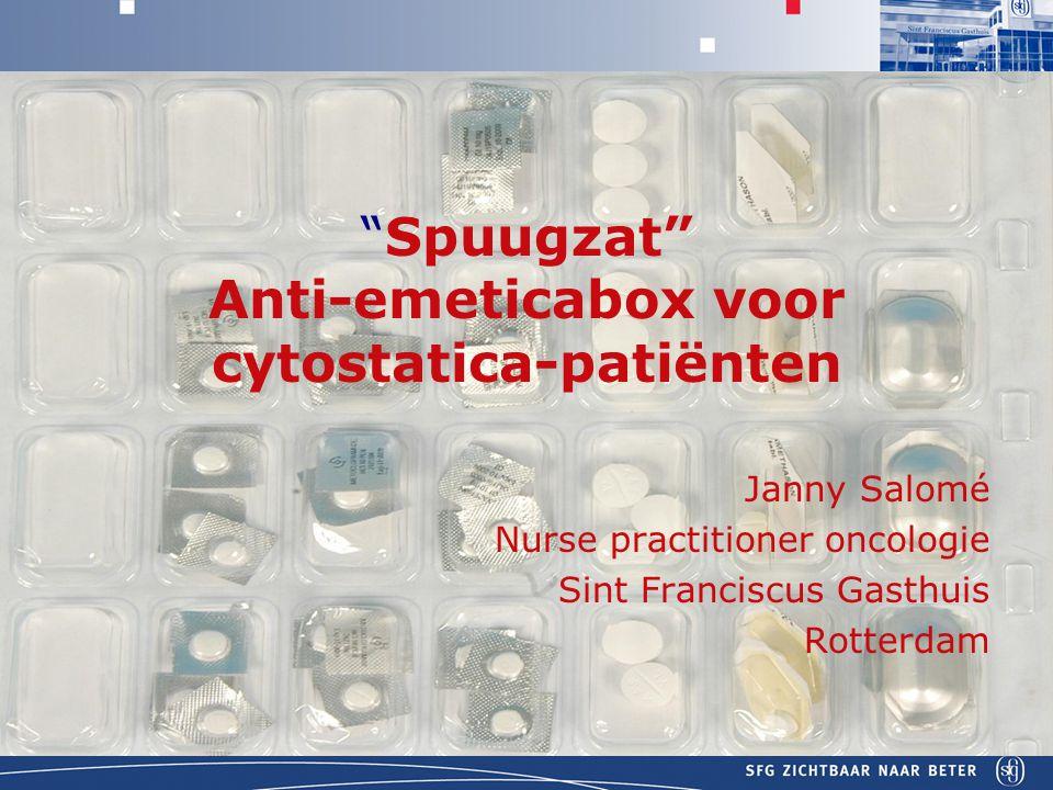 Spuugzat Anti-emeticabox voor cytostatica-patiënten