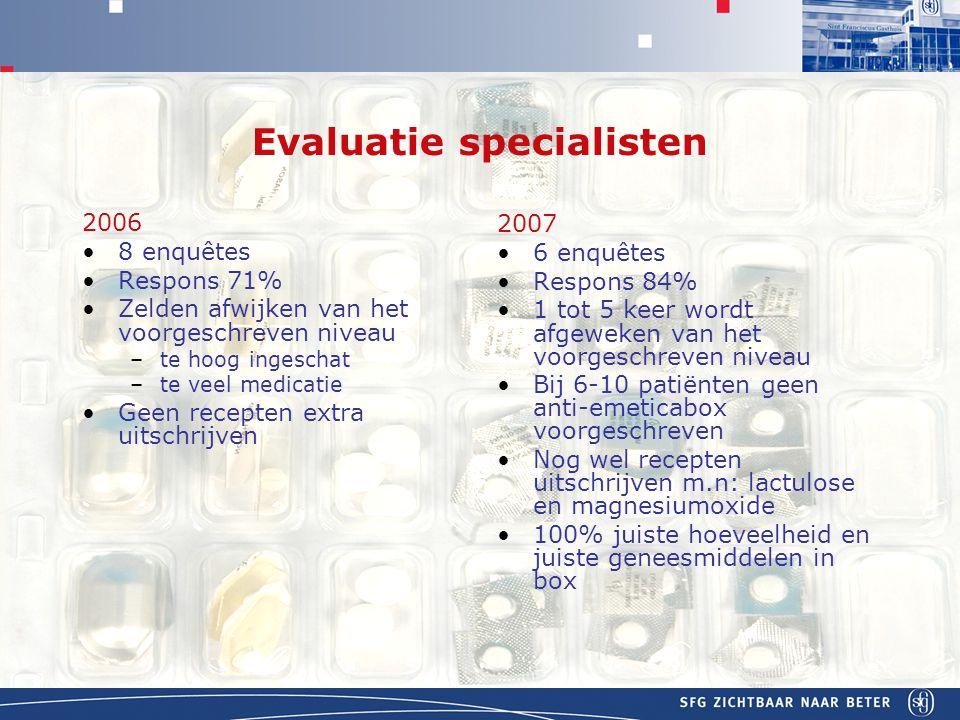 Evaluatie specialisten