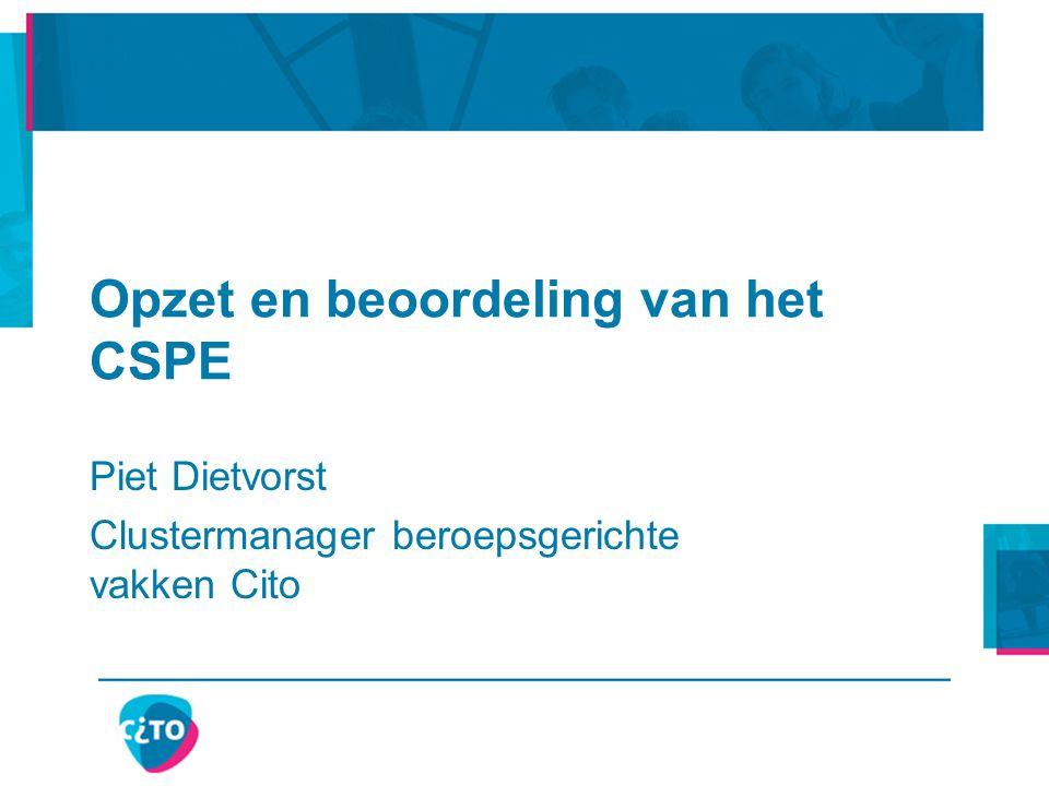 Opzet en beoordeling van het CSPE