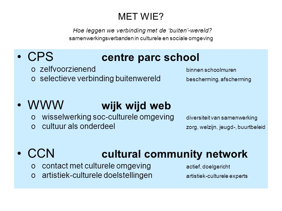 CCN cultural community network