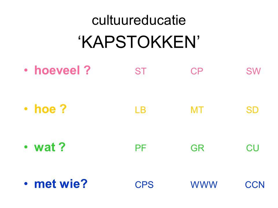 cultuureducatie 'KAPSTOKKEN'