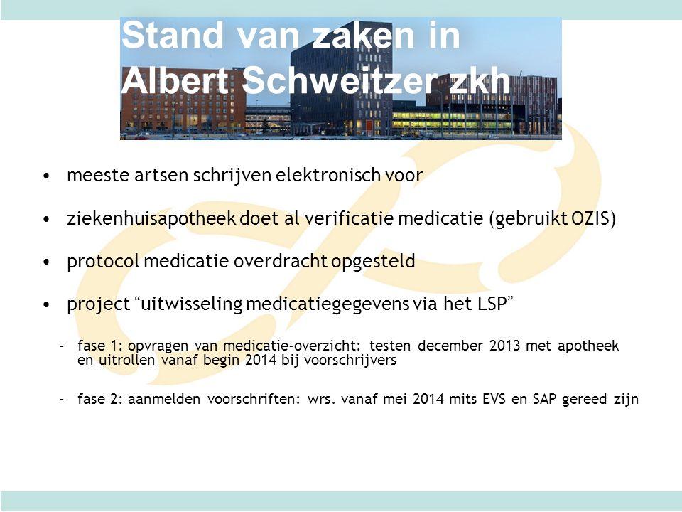 Stand van zaken in Albert Schweitzer zkh