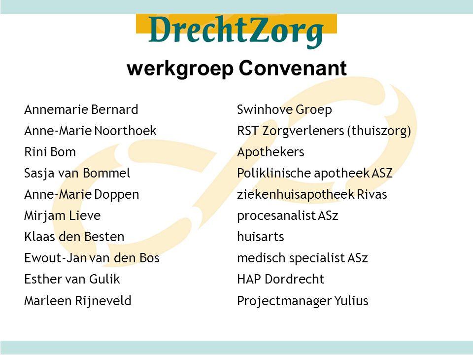 werkgroep Convenant Annemarie Bernard Swinhove Groep