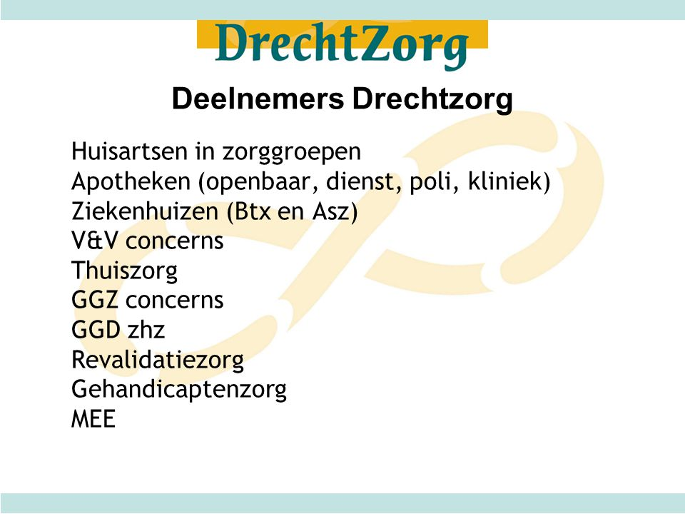 Deelnemers Drechtzorg