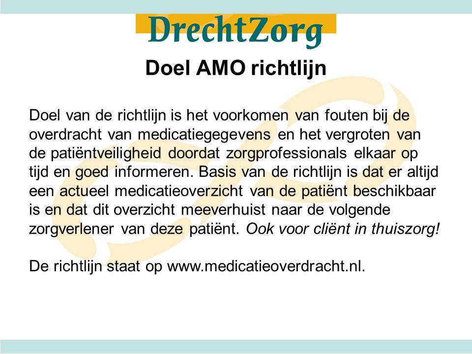 Doel AMO richtlijn