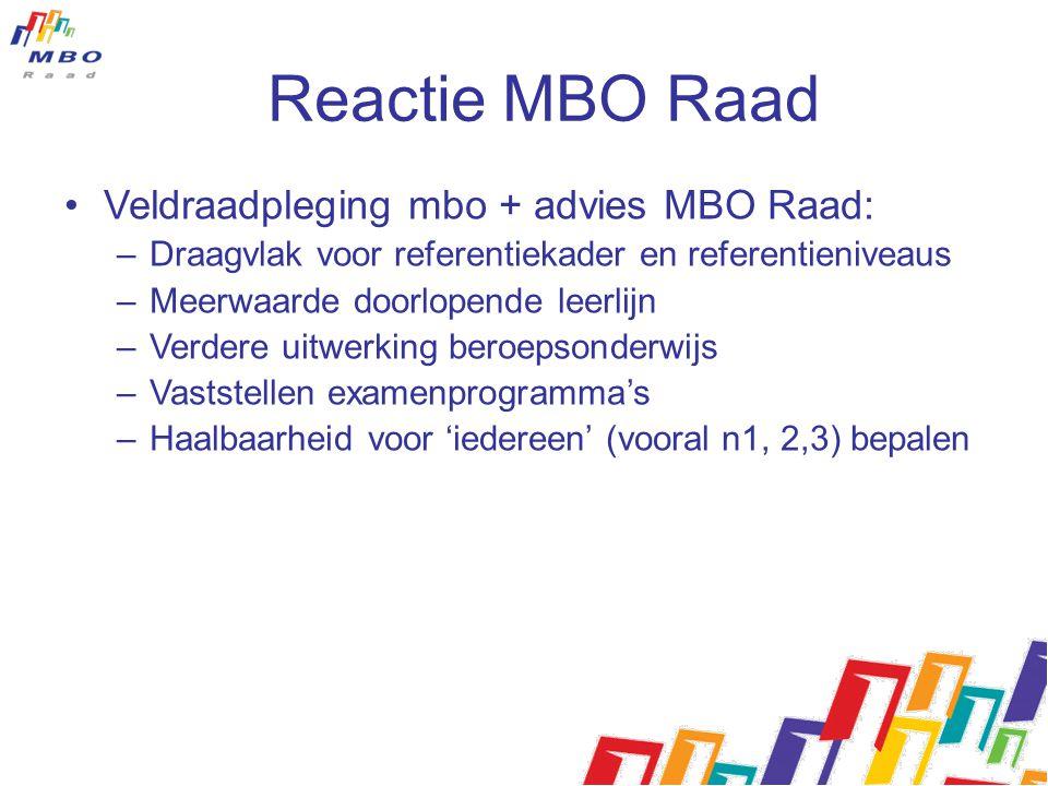 Reactie MBO Raad Veldraadpleging mbo + advies MBO Raad: