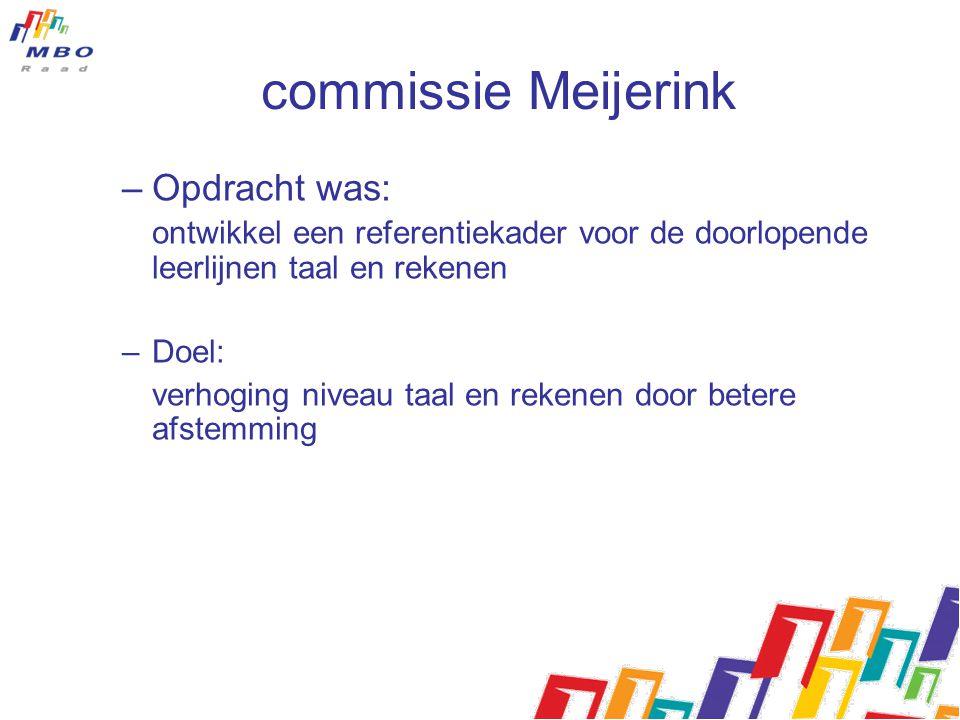 commissie Meijerink Opdracht was: