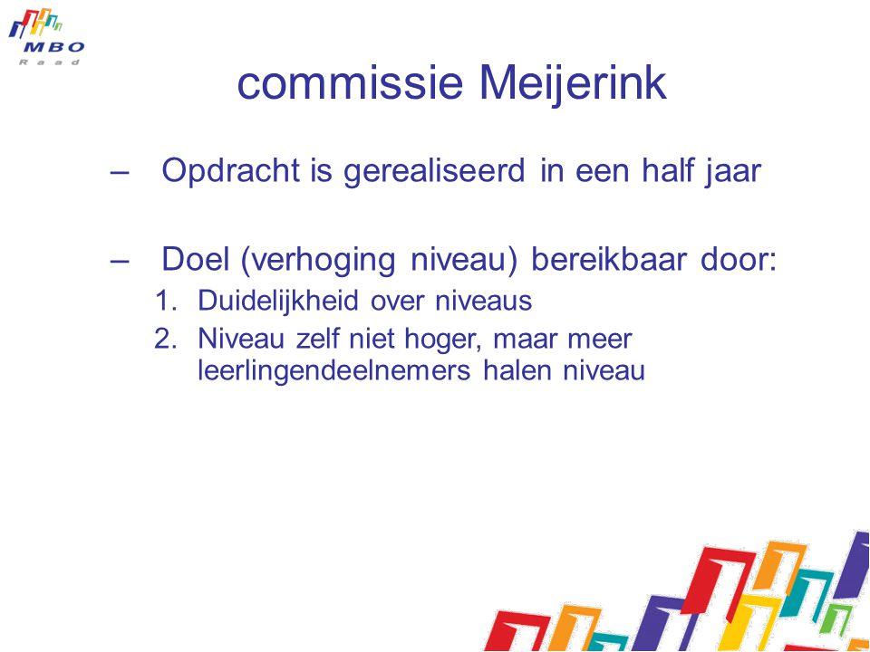commissie Meijerink Opdracht is gerealiseerd in een half jaar