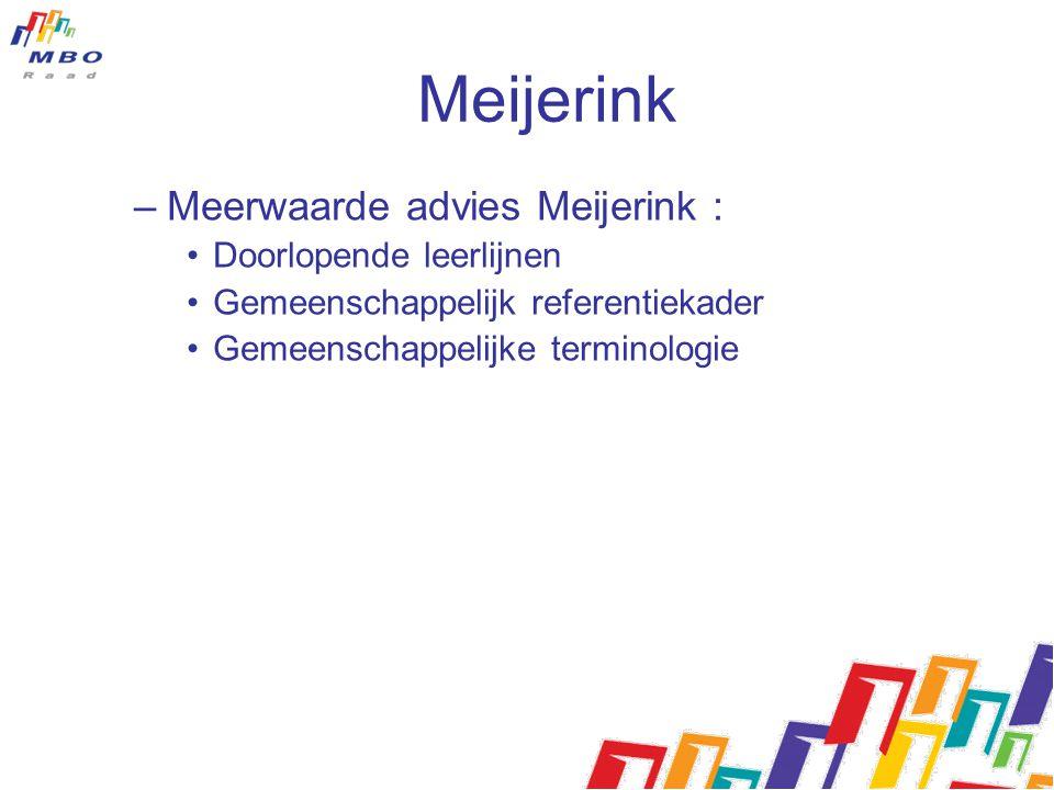 Meijerink Meerwaarde advies Meijerink : Doorlopende leerlijnen