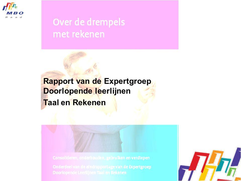 Rapport van de Expertgroep Doorlopende leerlijnen