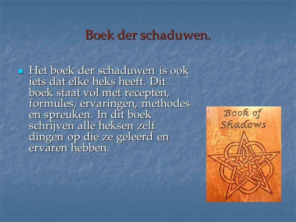 Boek der schaduwen.
