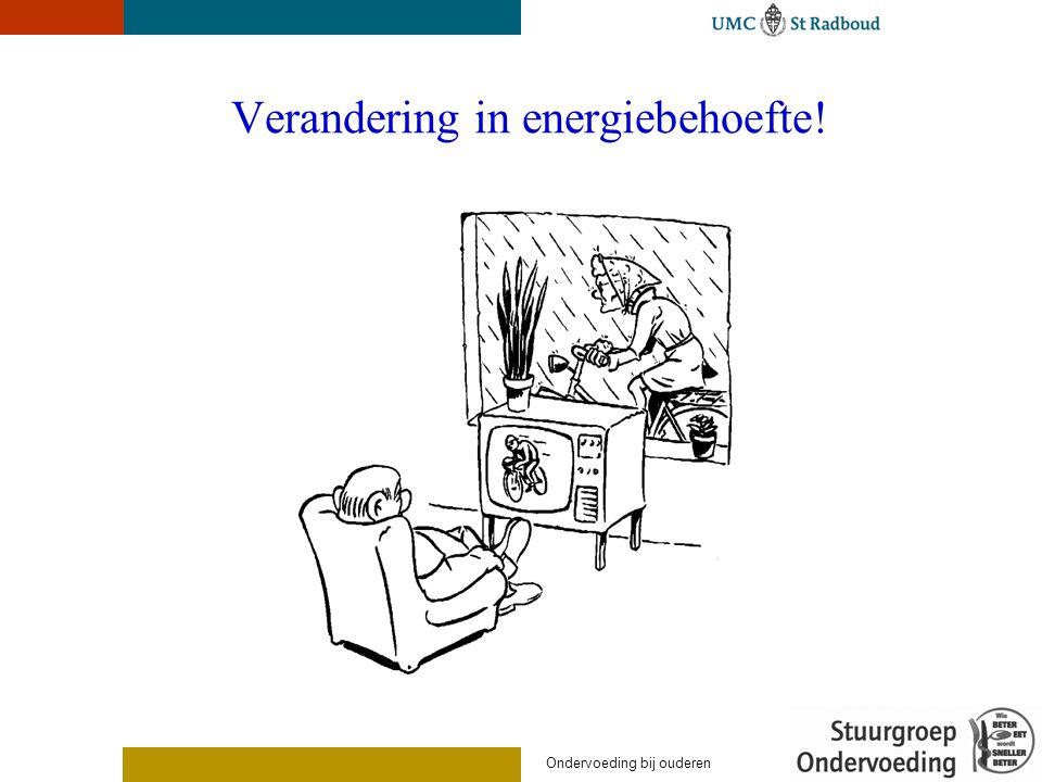 Verandering in energiebehoefte!