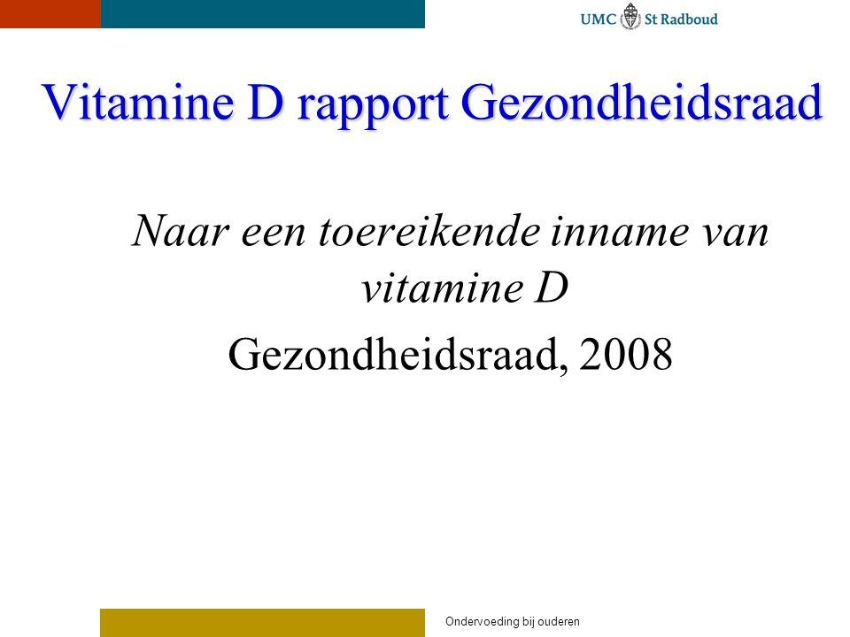 Vitamine D rapport Gezondheidsraad