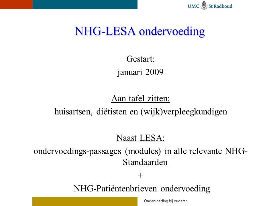 NHG-LESA ondervoeding