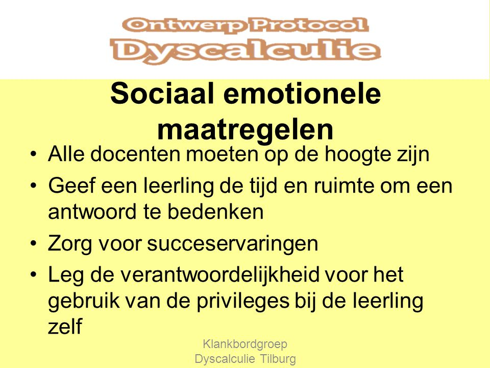 Sociaal emotionele maatregelen