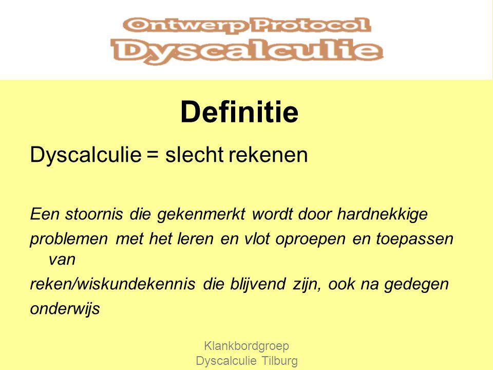 Klankbordgroep Dyscalculie Tilburg