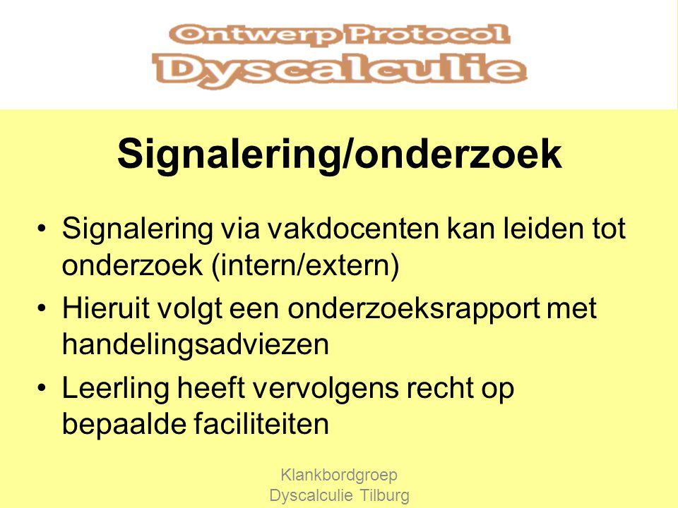 Signalering/onderzoek