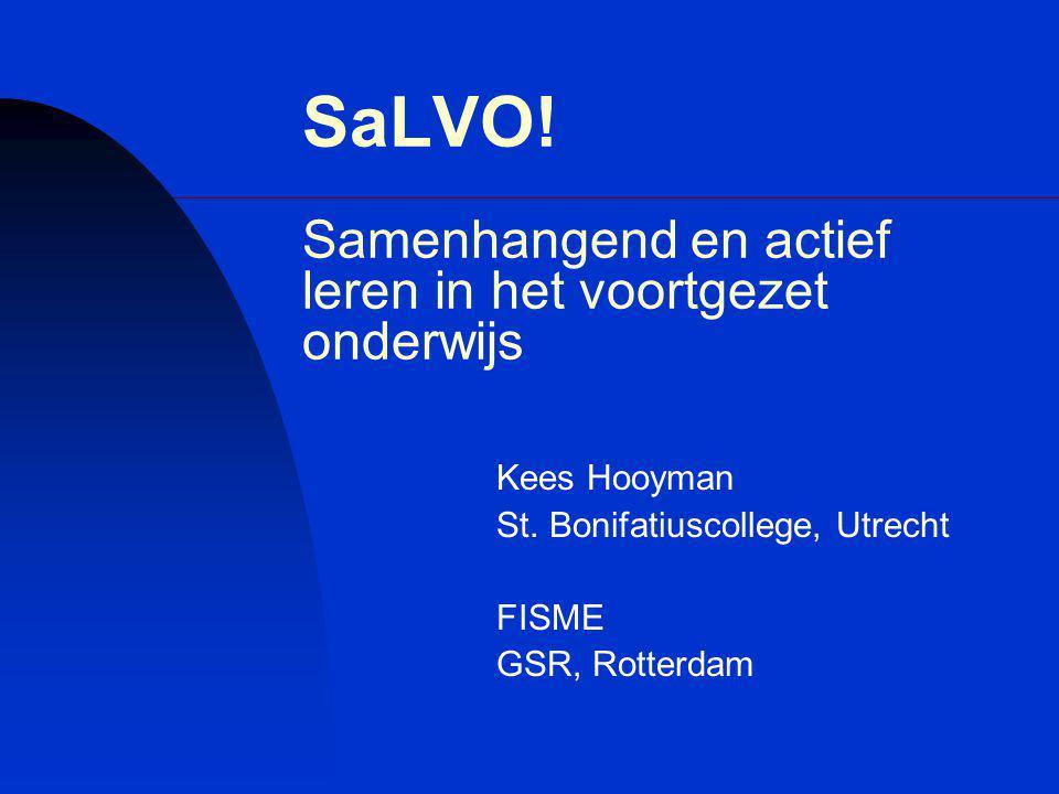 SaLVO! Samenhangend en actief leren in het voortgezet onderwijs