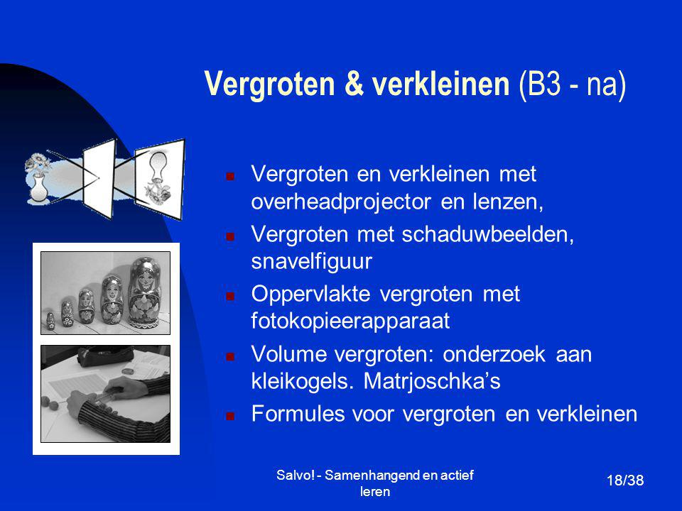 Vergroten & verkleinen (B3 - na)