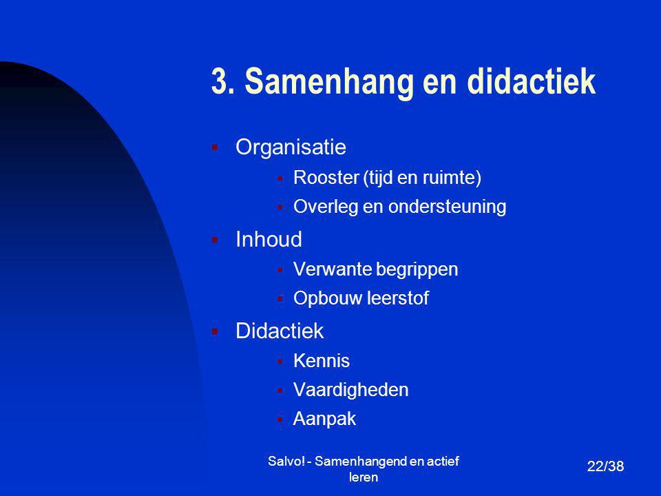 3. Samenhang en didactiek