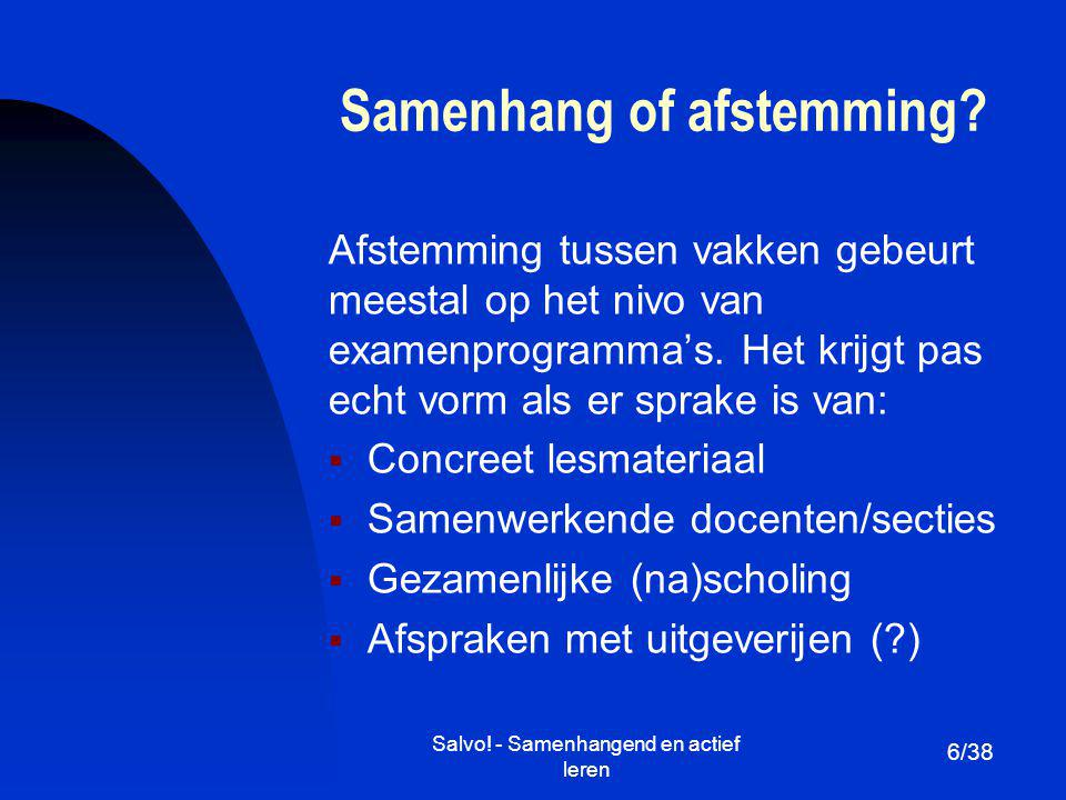 Samenhang of afstemming