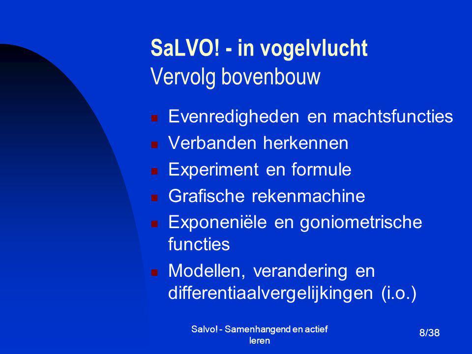 SaLVO! - in vogelvlucht Vervolg bovenbouw