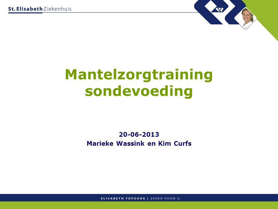 Mantelzorgtraining sondevoeding