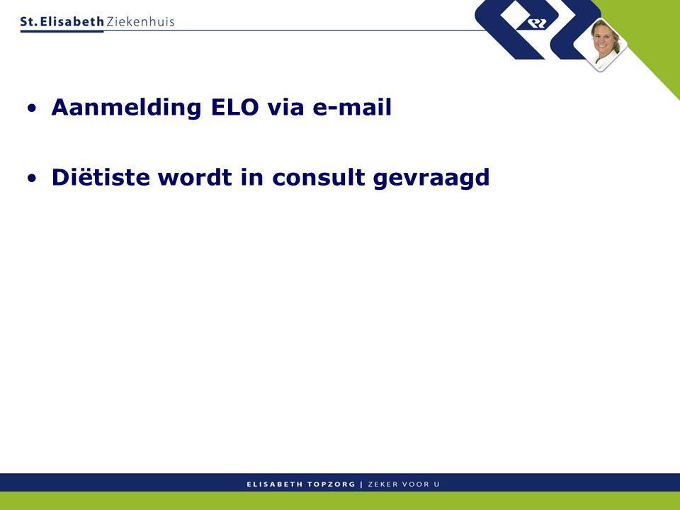 Aanmelding ELO via e-mail