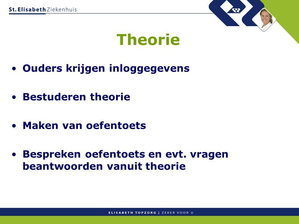 Theorie Ouders krijgen inloggegevens Bestuderen theorie
