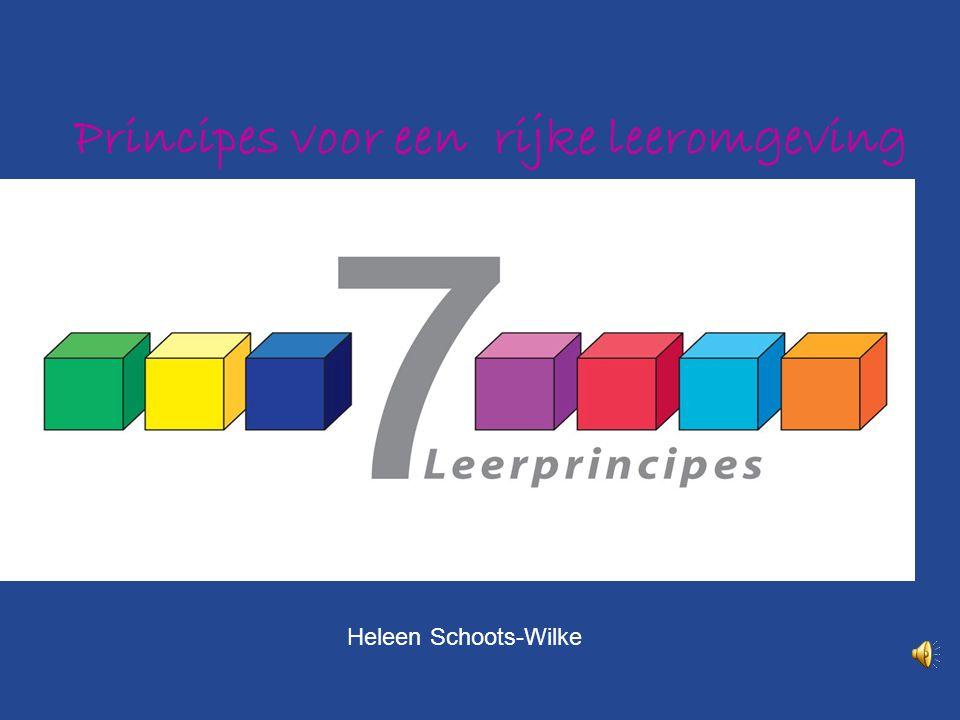 Principes voor een rijke leeromgeving