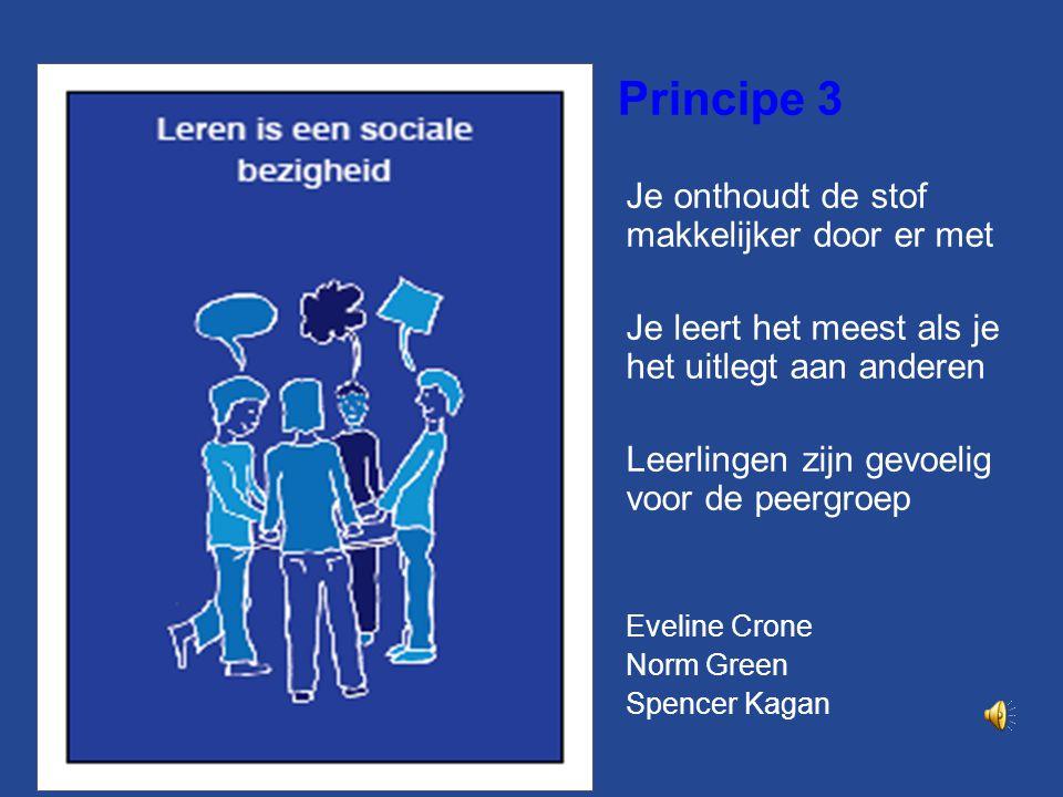 Principe 3 Je onthoudt de stof makkelijker door er met