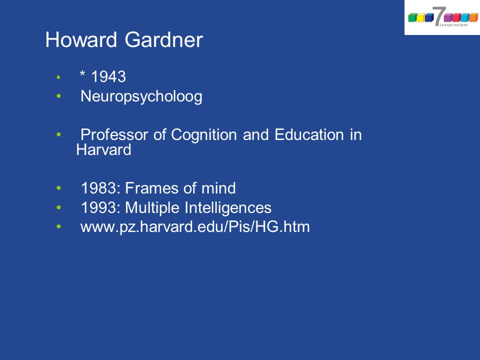 Howard Gardner Neuropsycholoog