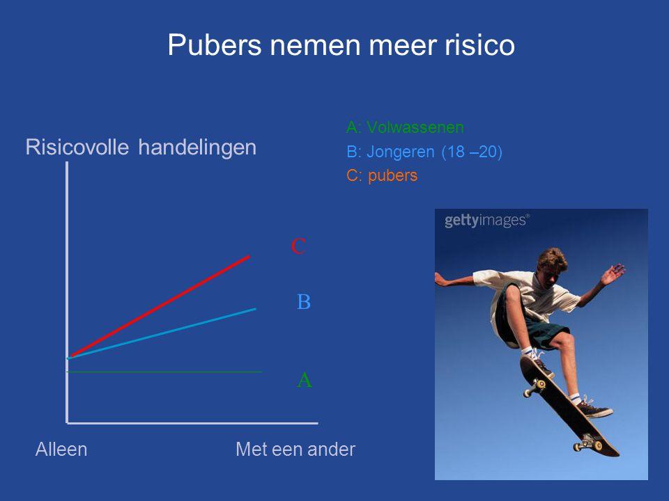 Pubers nemen meer risico