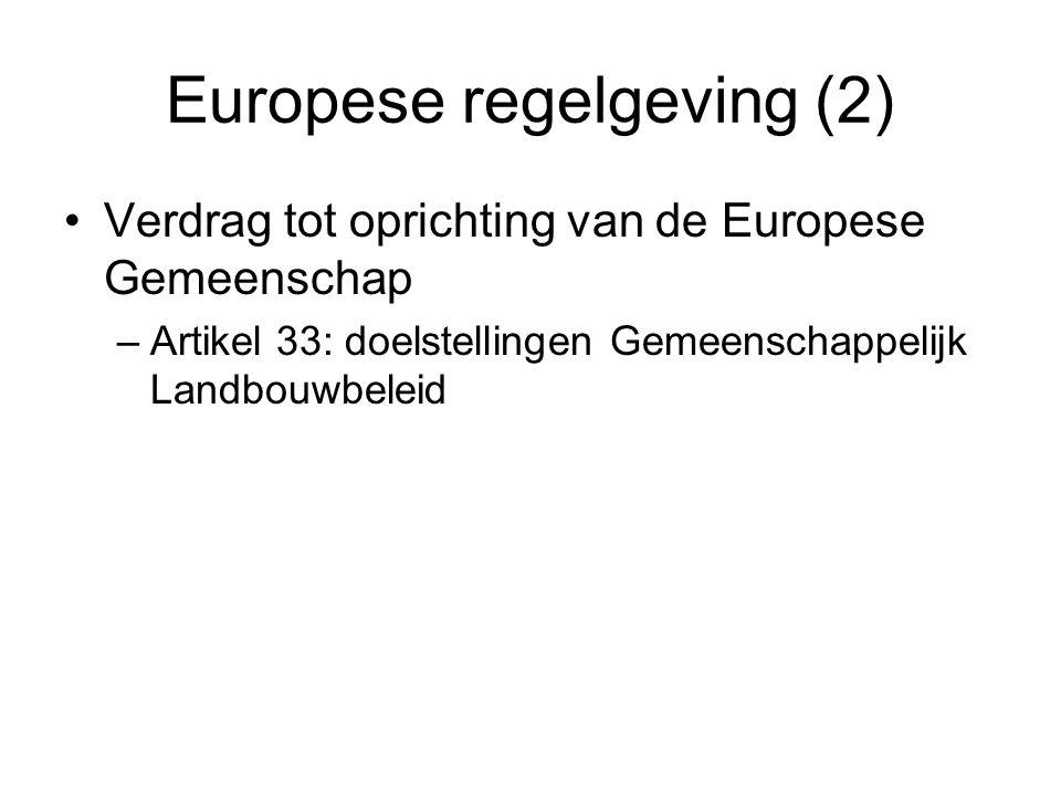 Europese regelgeving (2)