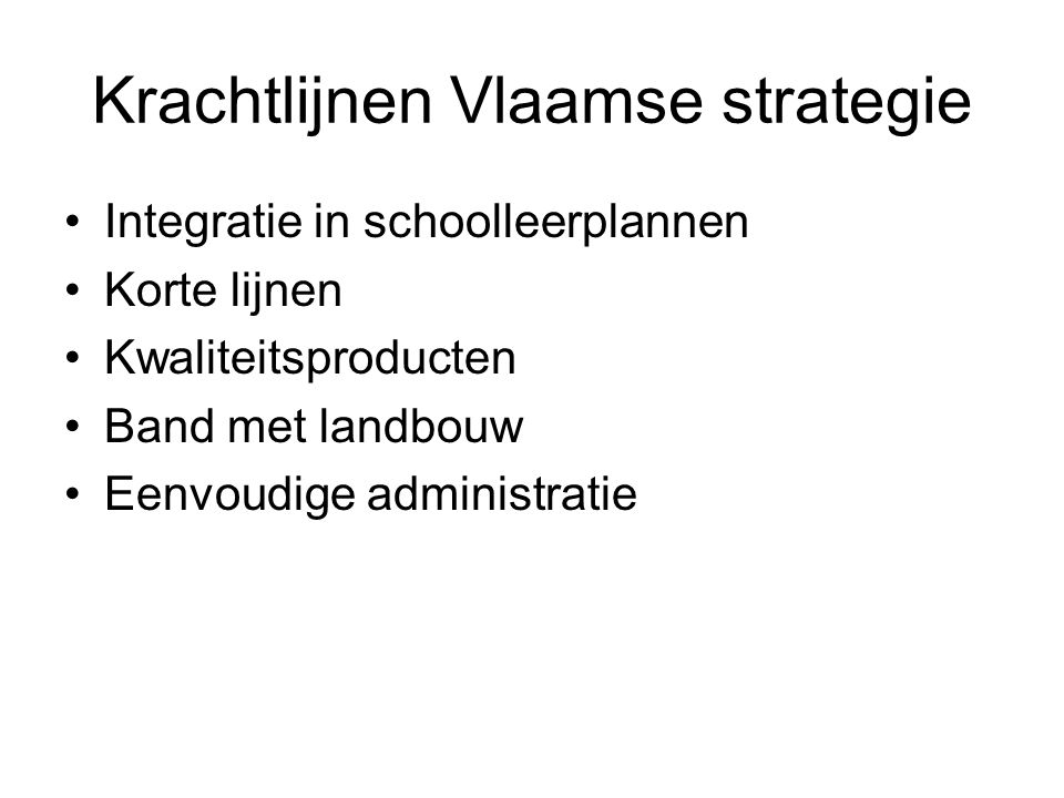 Krachtlijnen Vlaamse strategie