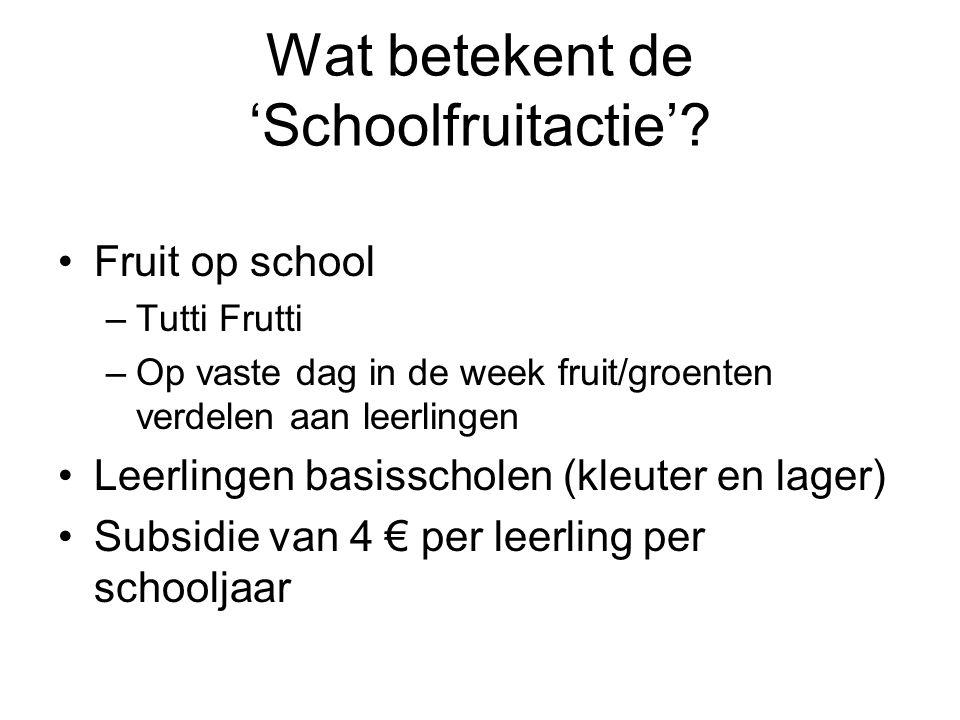 Wat betekent de 'Schoolfruitactie'