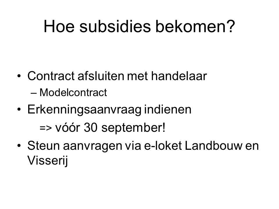 Hoe subsidies bekomen Contract afsluiten met handelaar