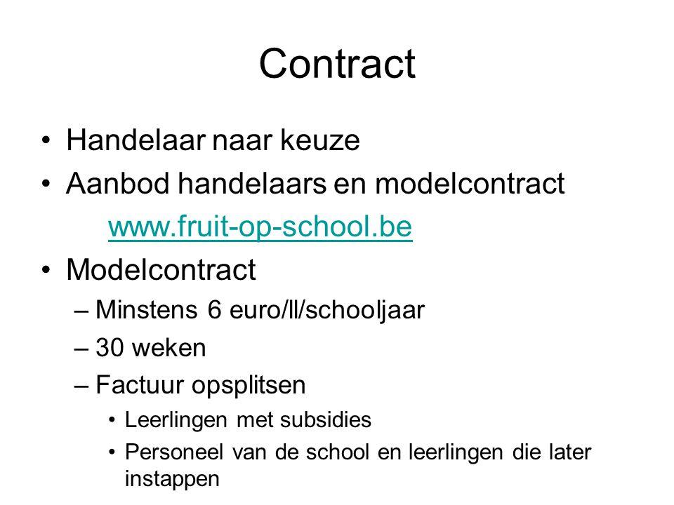 Contract Handelaar naar keuze Aanbod handelaars en modelcontract