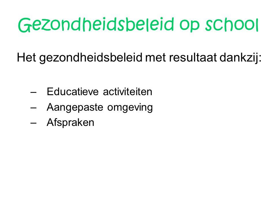 Gezondheidsbeleid op school