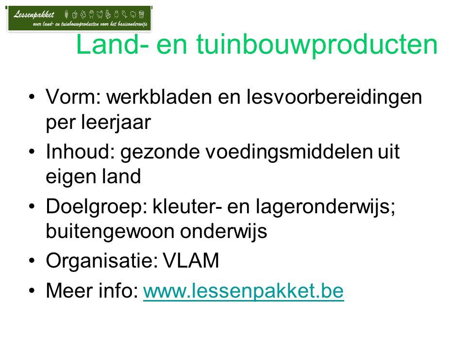 Land- en tuinbouwproducten