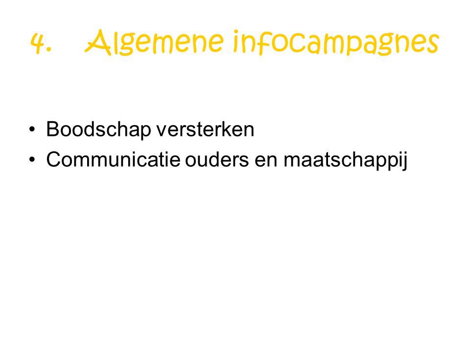 4. Algemene infocampagnes