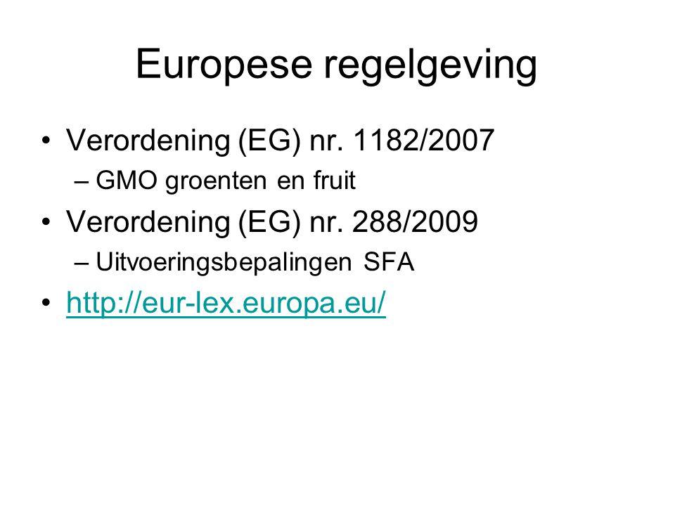 Europese regelgeving Verordening (EG) nr. 1182/2007