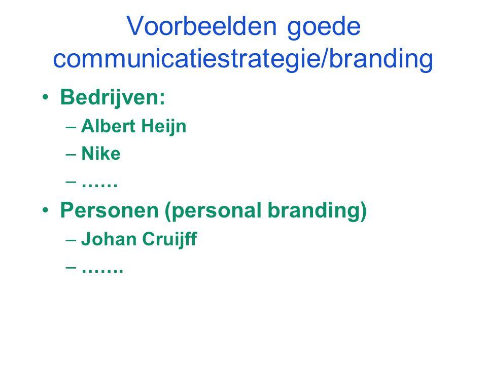 Voorbeelden goede communicatiestrategie/branding