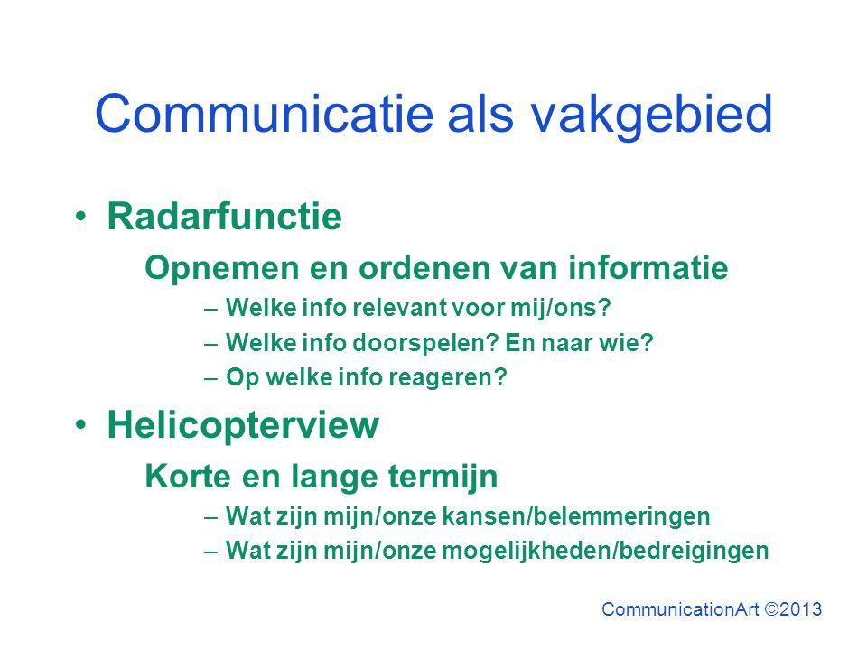 Communicatie als vakgebied